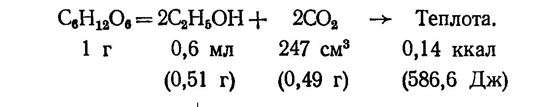 Формула брожения вина